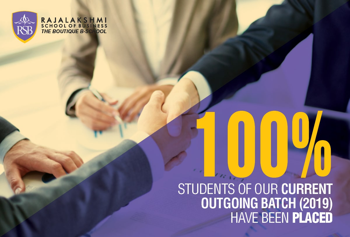 100% Students of our current outgoing batch (2017-2019) have been placed