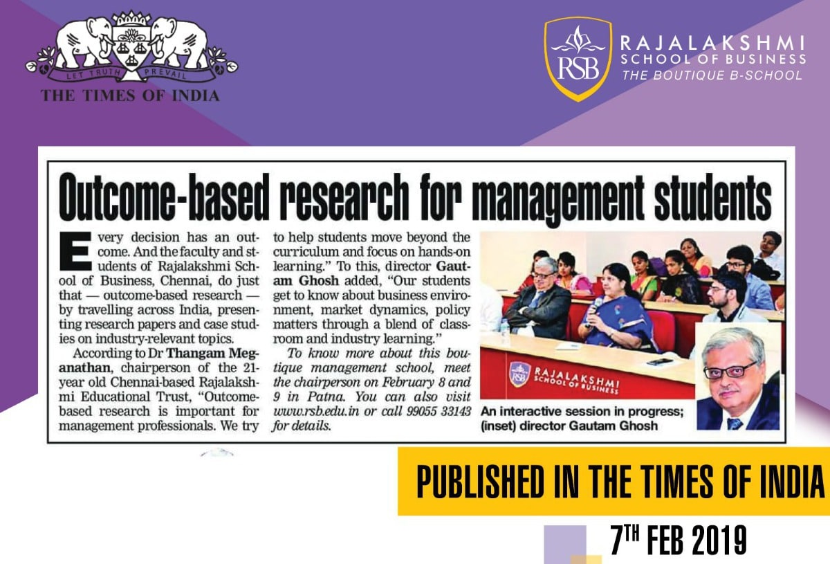 An Interactive Session in Progress on Outcome-based Research for Management Students