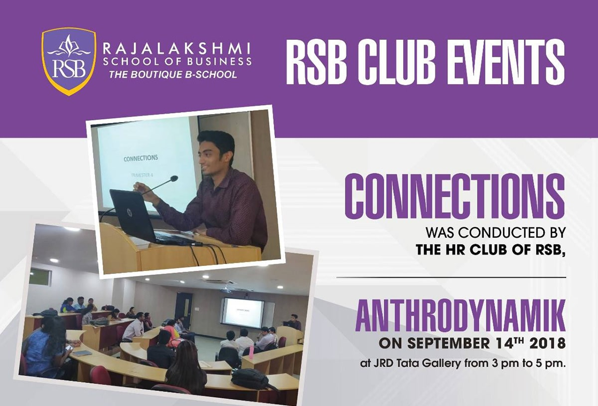'CONNECTIONS' was conducted by the HR club of RSB, 'Anthrodynamik' on September 14th 2018