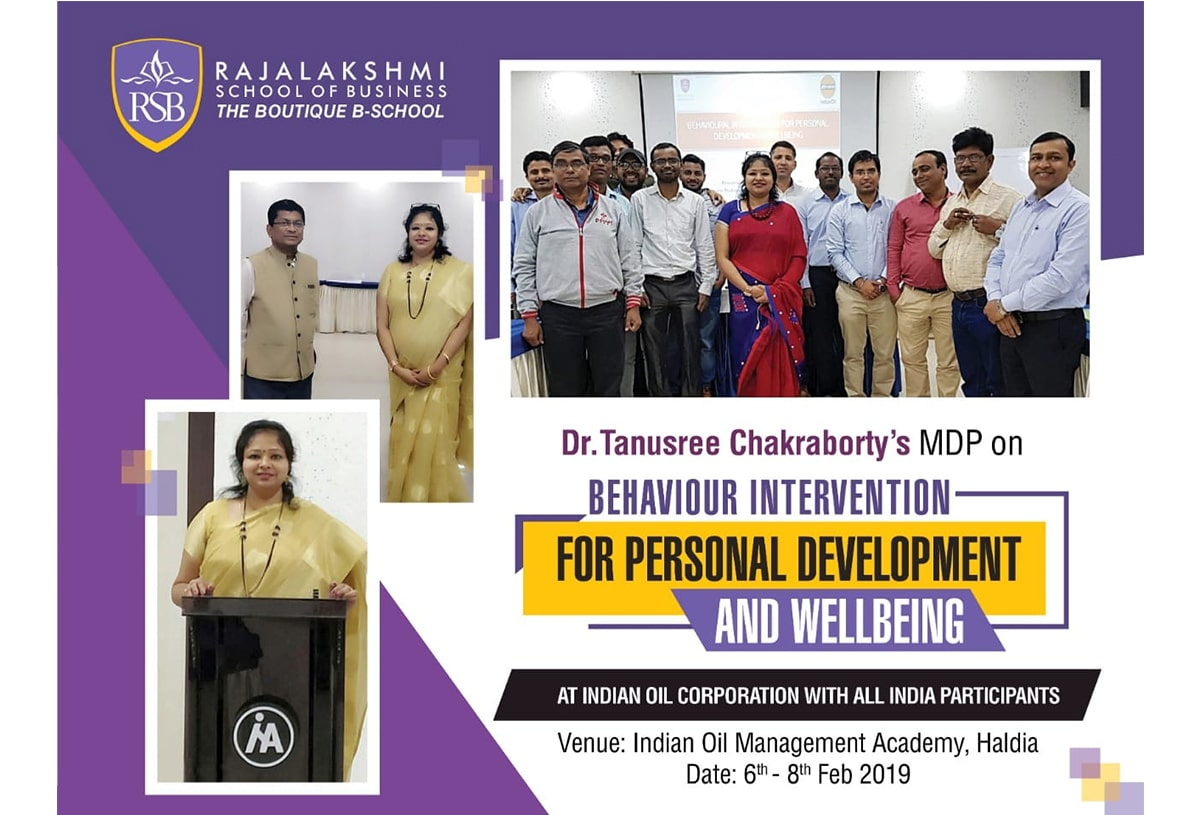 Dr. Tanusree Chakraborty's MDP on Behavior Intervention for Personal Development and Wellbeing