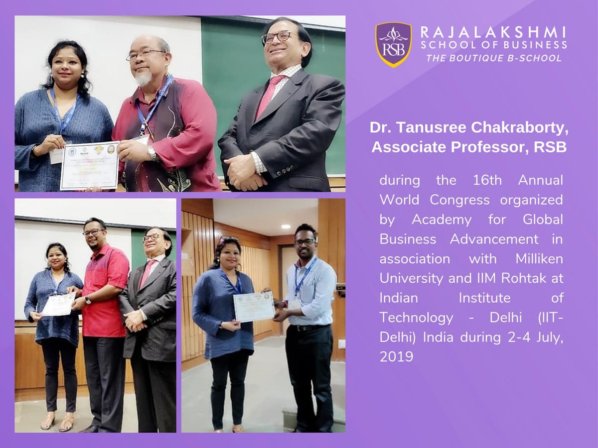 Faculty Paper Presentation - Associate Professor, Dr. Tanusree Chakraborty