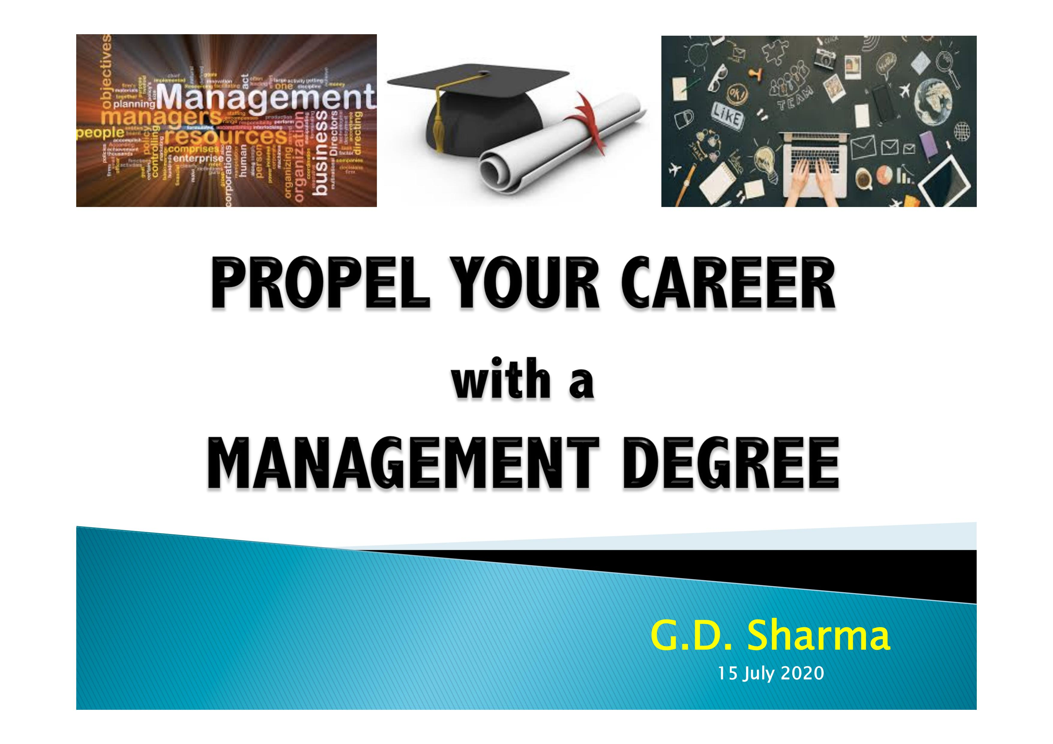 "Webinar on ""Propel your career with a Management Degree"""
