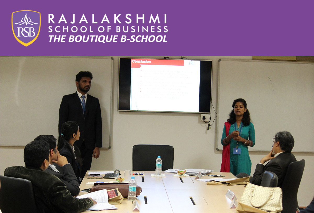 RSB Students of PGDM IIyear- Pavithra L.V. AND Ravi Kumar presenting research papers at IMI-Bhubaneswar